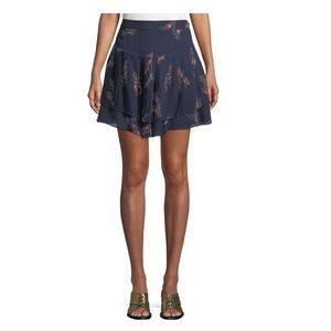 Derek Lam 10 Crosby Pleated Floral Skirt INTERMIX